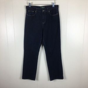 Ralph Lauren Dark Wash Classic Straight Jeans